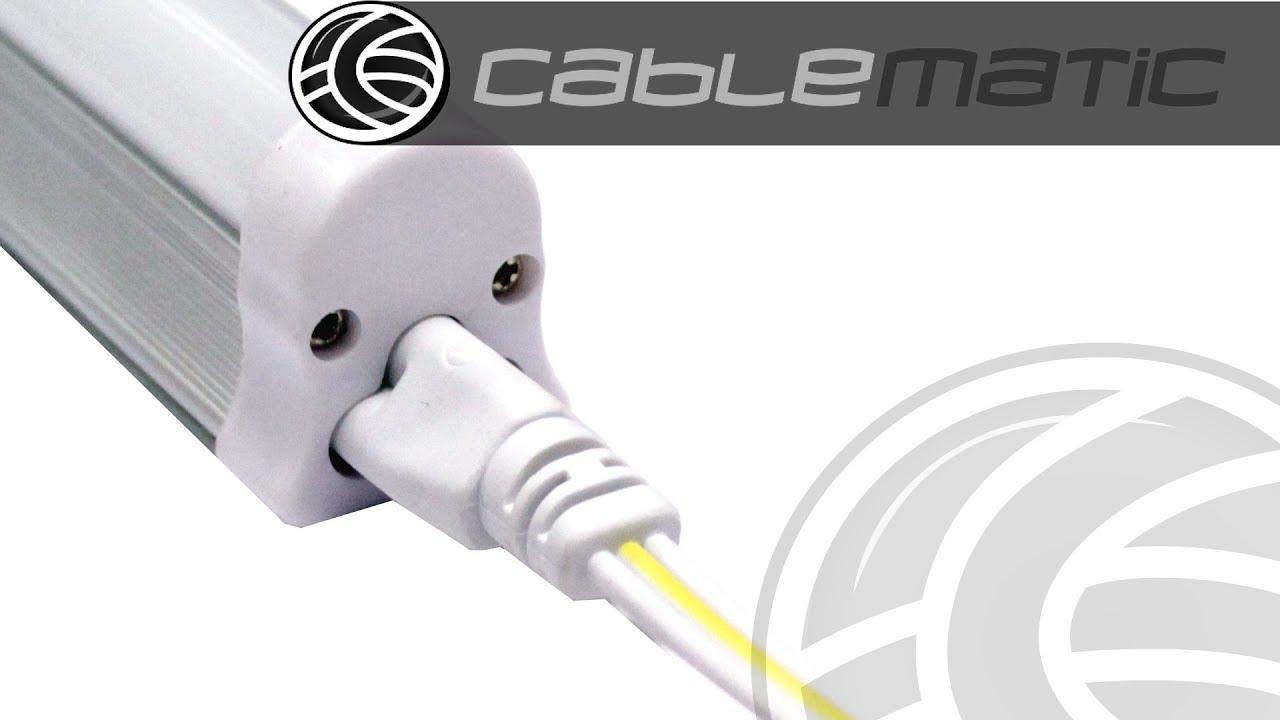 Cable iec 60320 c5 para tubo led t5 distribuido por - Regleta para cables ...