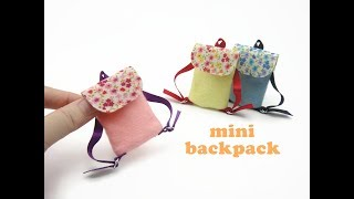 DIY Miniatures Mini Doll Backpack Bag - No Sew Easy!