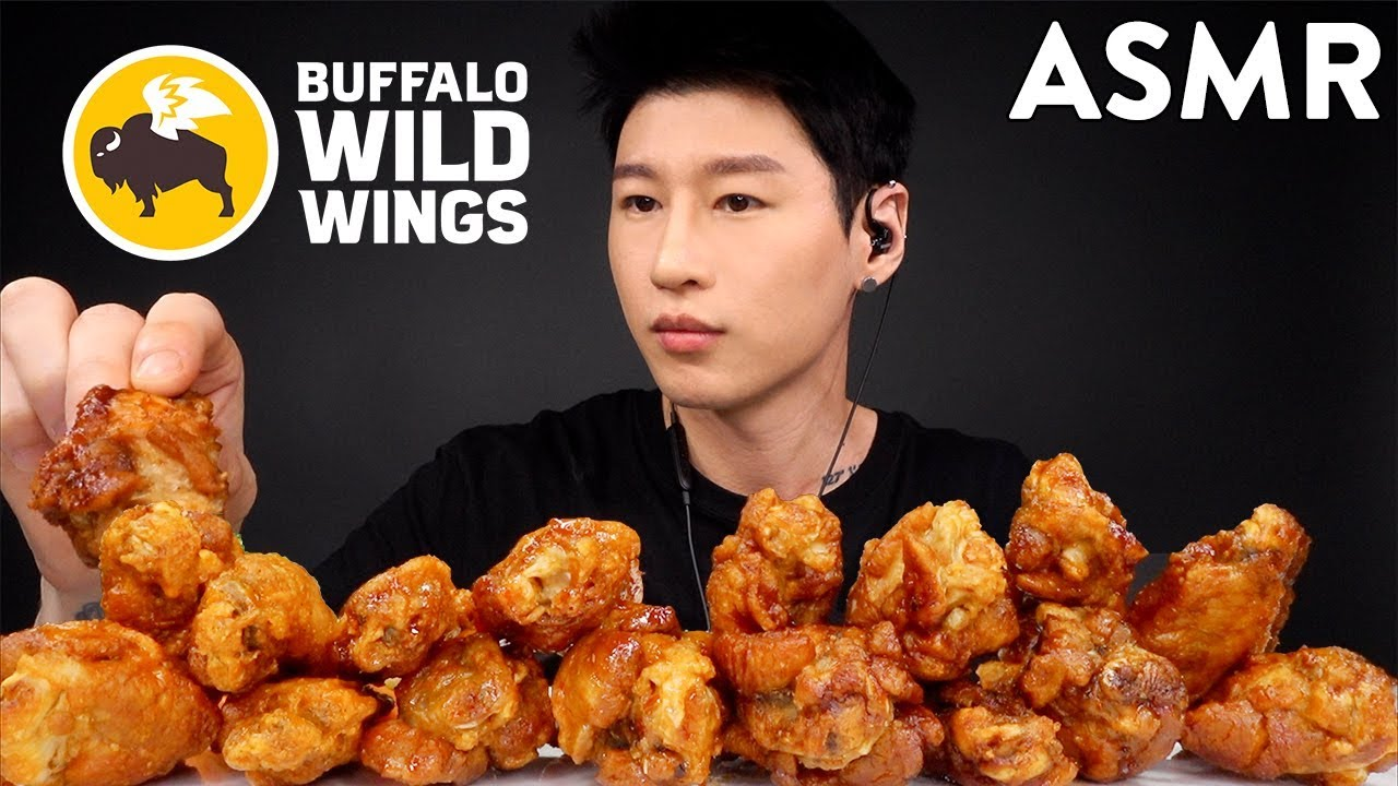Asmr Buffalo Wild Wings Mukbang No Talking Crunchy Eating Sounds Zach Choi Asmr