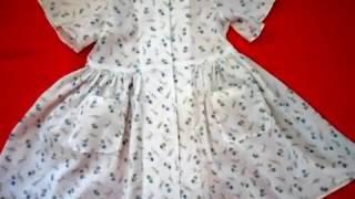 Домашняя одежда для девочки. Платье-халатик для лета.
