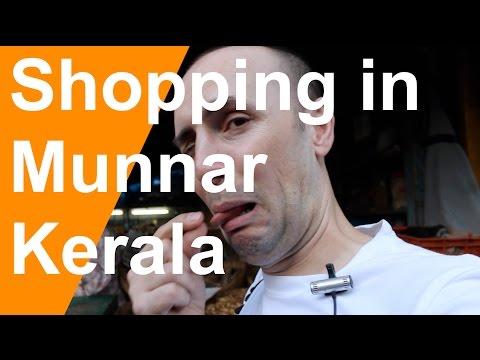 Shopping in Munnar Village Kerala India