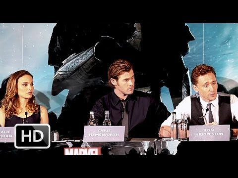 Thor: The Dark World press conference with Chris Hemsworth, Natalie Portman, Tom Hiddleston