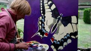 Butterfly Painting Time Lapse