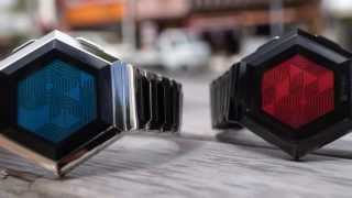 Kisai Quasar Hexagonal LCD Watch Design from Tokyoflash Japan