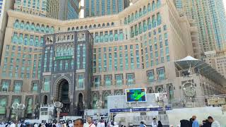 Abraj Al-Bait Towers as seen from Masjid Al-Haram ( Macca Tower-Saudi Arabia)