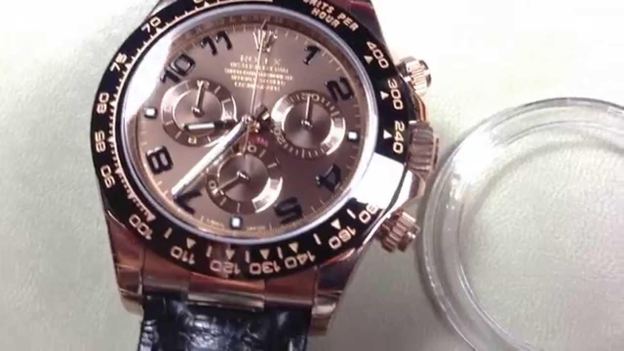 Rolex , Daytona Cosmograph 18k Rose Gold , 116515