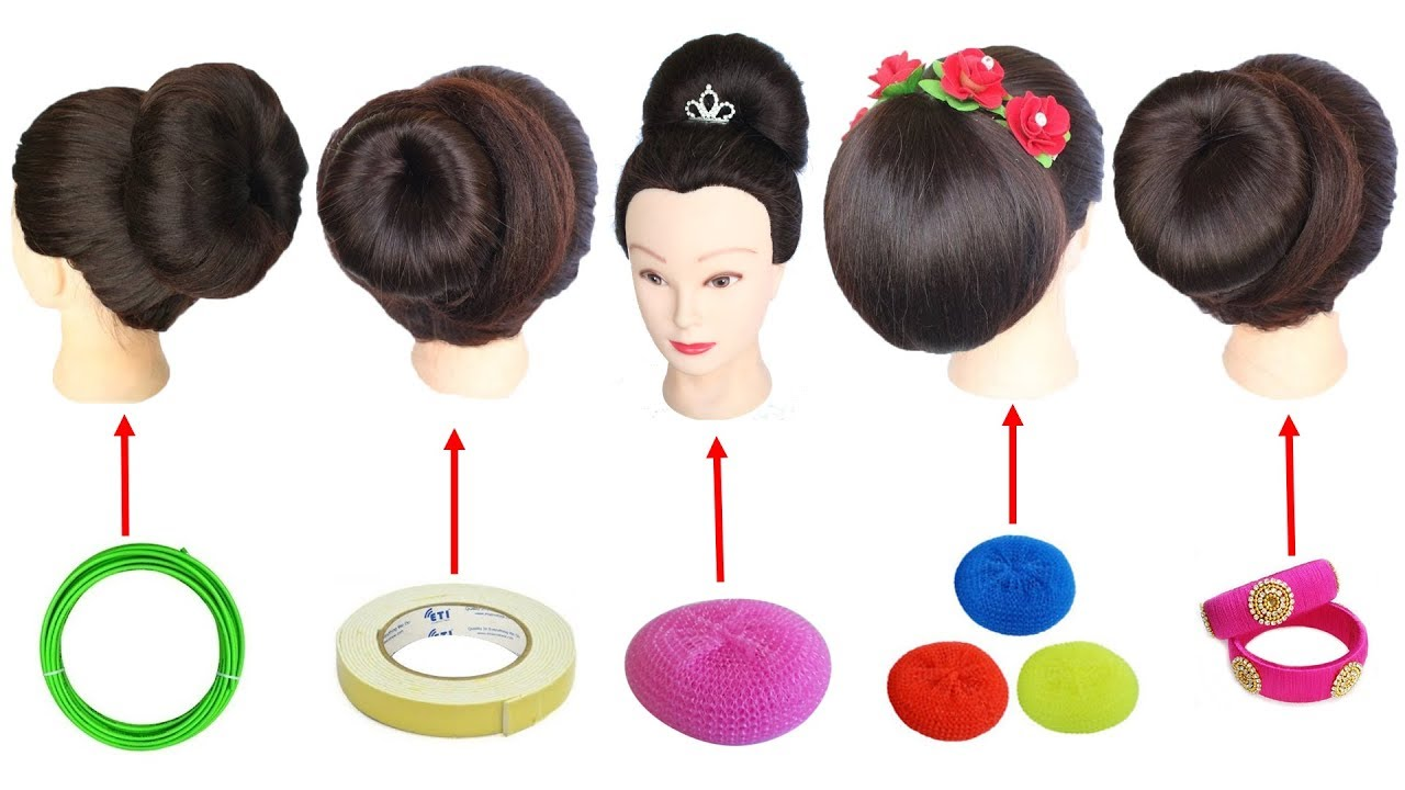 5 Easy Juda Hairstyle With Trick Hairstyle Simple Hairstyle Hair Style Girl Hair Bun