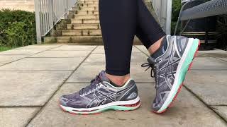 Women's ASICS GEL Nimbus 19 (Carbon/White/Flash Coral)