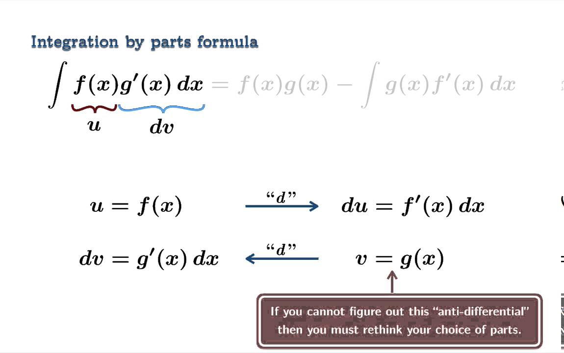 Integration By Parts (Introduction)