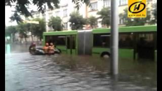 Потоп в Гомеле: на лодках по городу, Июль 2012