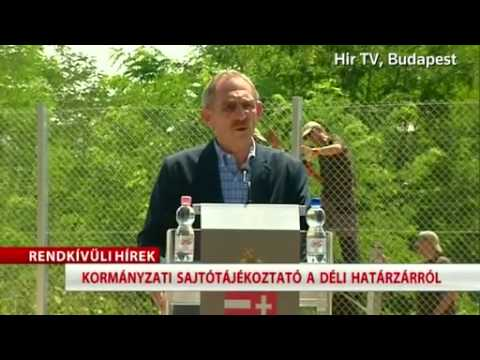 Hungary building anti migrant fence