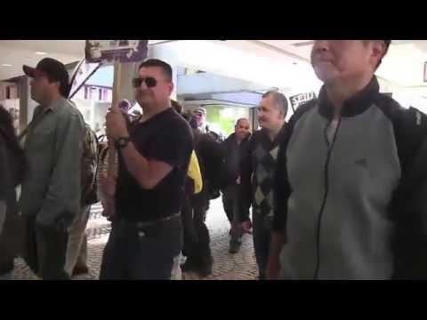 Janitors Union local 87 SEIU marches at Embarcadero 2 San