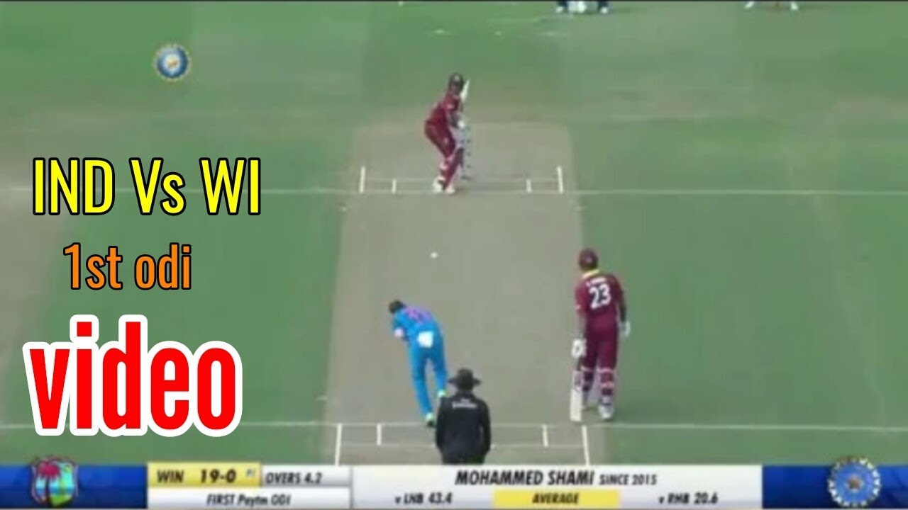 India Vs West Indies 1st Odi Match 2018 Highlight Cricket Highlights Hd 1