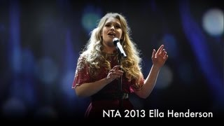 Ella Henderson performs Believe - 2013 National Television Awards