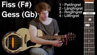 gitarr: ackordet fiss (f#) / gess (gb)