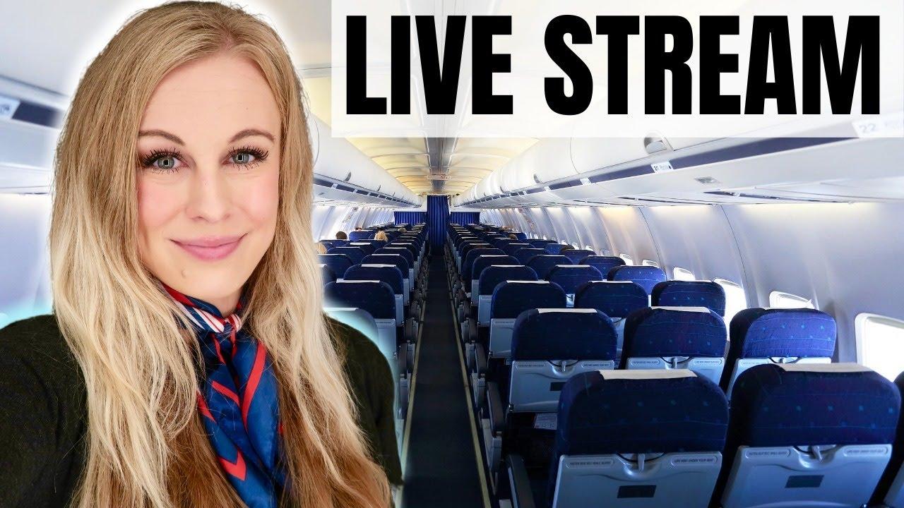 LIVE STREAM! Flight Attendant Life
