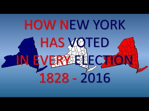 How New York has Voted in Every Presidential Election
