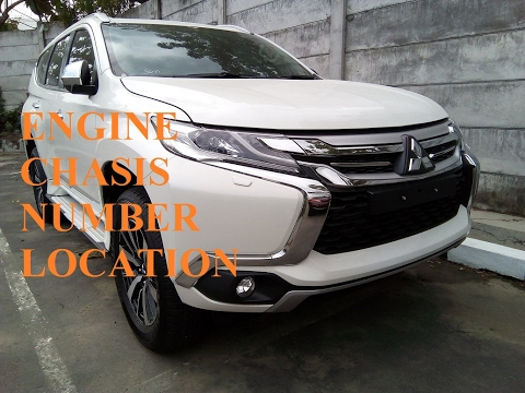ENGINE AND CHASSIS NUMBER LOCATION ALL NEW PAJERO SPORT