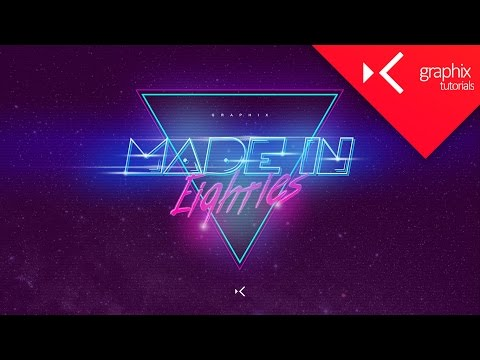 How To Make a Made In 80s Wallpaper  Tutorial  Photoshop CC 2015  GraphixTV