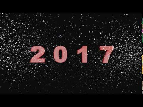 Футаж надпись С Новым Годом 2017
