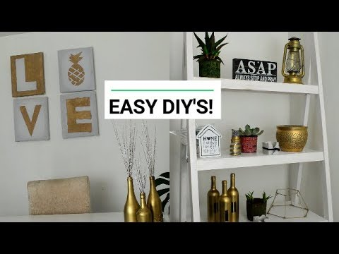 EASY DIY HOME DECOR! | THESE DIY PROJECTS COST ALMOST NOTHING AND LOOK BOMB!