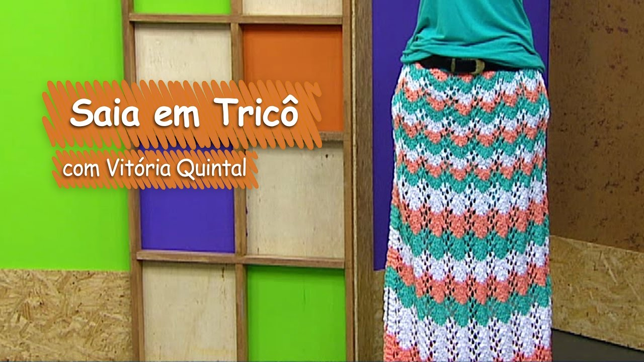 Armario Roupeiro De Aço ~ Saia em Tric u00f4 com Vitória Quintal Vitrine do Artesanato na TV Gazeta YouTube