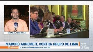 El régimen de Maduro arremetió contra Colombia, Estados Unidos y el grupo de Lima
