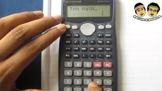 Calculating the Transpose of a Matrix Using a Calculator [Casio FX991MS]