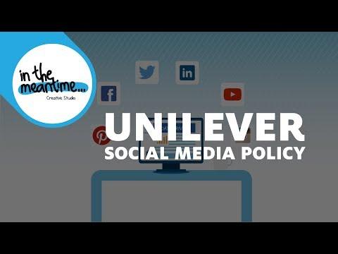 Unilever Social Media Policy