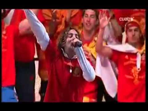 David Bisbal y la Selección Española. Celebración Mundial 2010