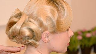 Hairstyle. Причёска с сеточками. Локоны