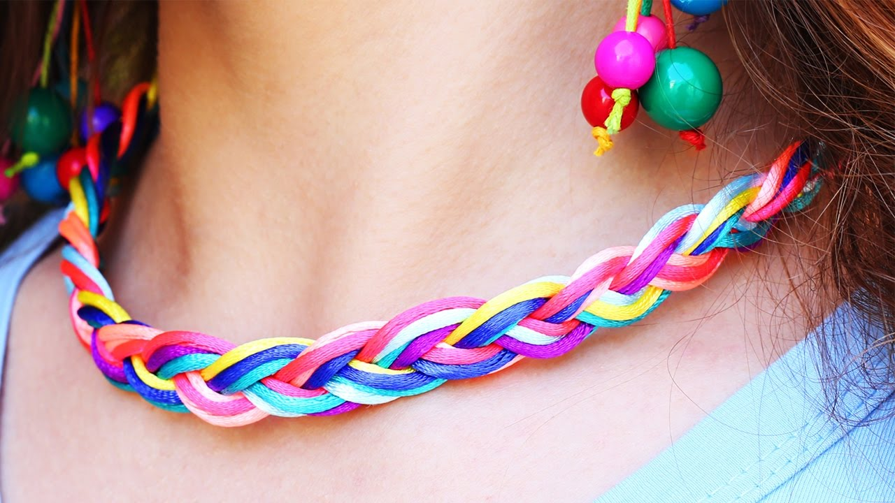 5 diy cord jewelry ideas youtube 5 diy cord jewelry ideas solutioingenieria Image collections