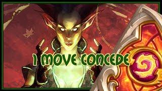 Hearthstone: 1 move concede (jade druid)