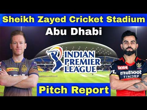 Sheikh Zayed Cricket Stadium Abu Dhabi Pitch Report - IPL 2021 31st Match Preview KKR vs RCB Dream11