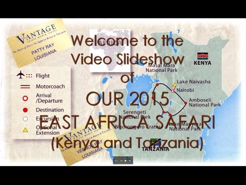 Africa Safari Video Slideshow   1h55m