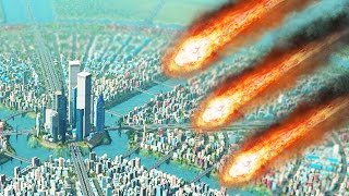 METEORS vs HUGE CITY! (Cities Skylines Natural Disasters)