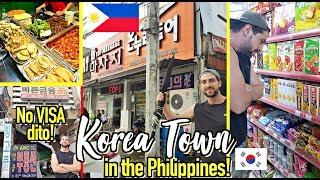 """Parang KOREA Talaga Dito! 😲 """"Korean Town"""" in the PH! 🇵🇭 Korean Streets & SHOPS!"""