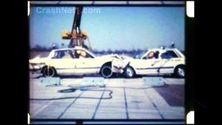 1984 Honda Accord vs Chevy Celebrity   Head-on Crash Test by NHTSA   CrashNet1
