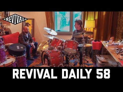 Stevie Ray Vaughan's drum kit with Chris Layton in his studio! // Revival Daily 58