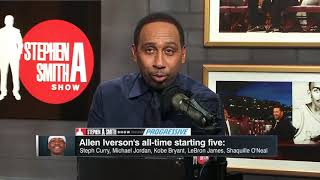 Allen Iverson breaks down why he picks Steph and Kobe over Magic on his top five all time list