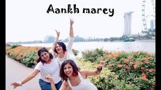 Aankh Marey - Simmba | DanZing Dance Choreography | Outdoors Shoot