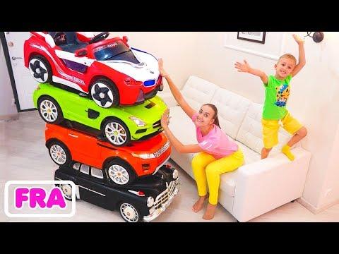 Le petit magicien qui conduit les voitures-jouets et transforme les voitures pour enfants
