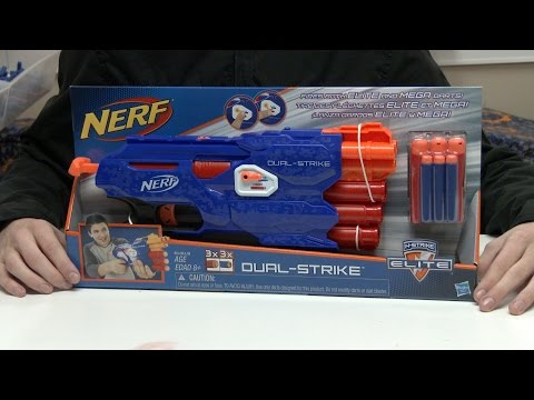 Nerf N-Strike Elite Dual-Strike Unboxing and Review in 4K!