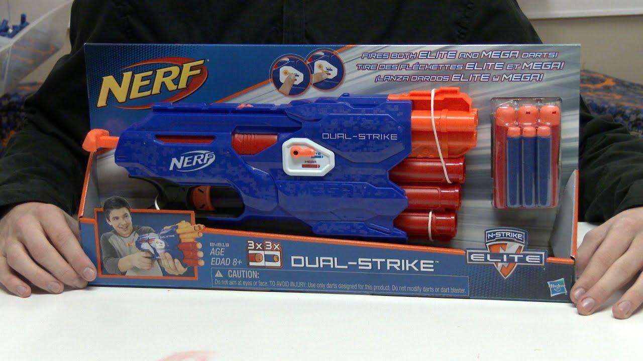 Brand New NERF N-Strike Elite DUAL-STRIKE Dart BLASTER