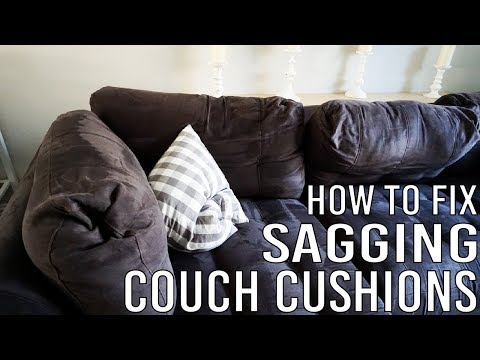 How To Fix Sagging Couch Cushions Youtube