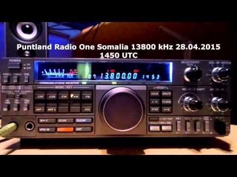 Puntland Radio One Somalia 13800 khz