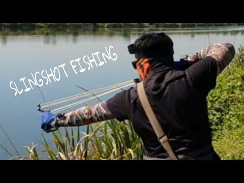 SLINGSHOT FISHING.... РЫБАЛКА С РОГАТКОЙ