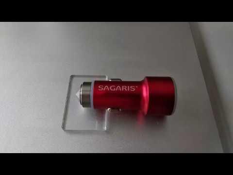 Incarcator auto personalizat prin gravura laser Sagaris Promotion