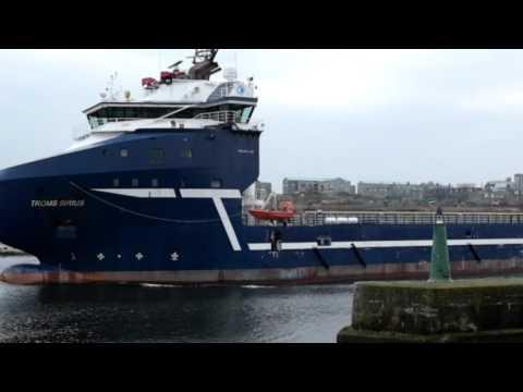 Troms Sirius Leaving Aberdeen Harbour