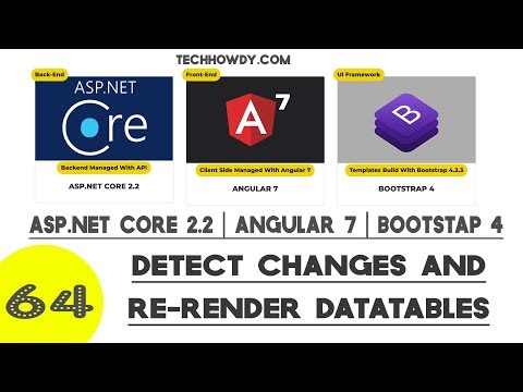 Angular 7 | How to Detect Changes And Re-Render DataTables